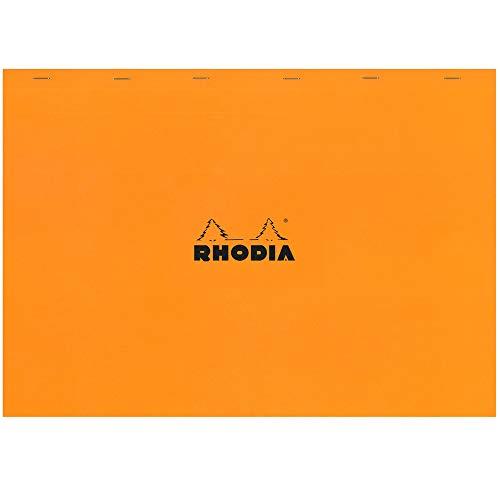 RHODIA 38200C - Bloc-Notes Agrafé N°38 Orange - A3 - Petits Carreaux - 80 Feuilles Détachables - Papier Clairefontaine Blanc 80 g/m² - Couverture en Carte Enduite Souple, Résistante et Imperméable