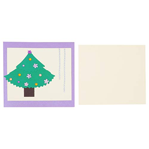 NUOBESTY 3pcs Christmas Tree Greeting Cards Diamond Painting Xmas Cards for Holiday Christmas Party Invitation Message Card Supplies (White)