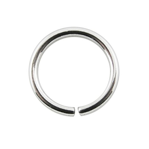 16 Gauge (1.2MM) - 7MM Diameter 316L Surgical Steel Seamless Continuous Hoop Nose Ring Piercing