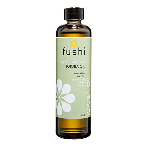 Fushi Organic Jojoba Oil 100 ml | Fresh-Pressed| Rich in Vitamin E | Best for Skin Cleansing, Dry Skin & Dry Hair | Hypoallergenic Oil | Ethical & Vegan Society Approved | Manufactured in the UK