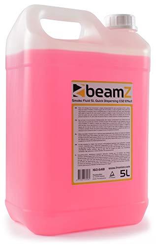 beamZ Nebelfluid - Nebelflüssigkeit, 5 Liter, CO2-Effekt, für mitteldichten Nebel, schnelle Dispersion, Geruchsneutral, umweltfreundlich, geeignet für alle beamZ Nebelmaschinen, pink