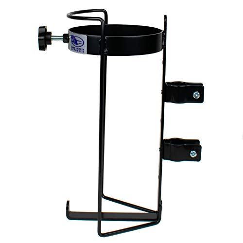 Royln Prest-15490 Oxygen Tank Holder for Rollators, Easily Attaches to Most Rollators for Transport of Either D or E Oxygen Cylinders - Black