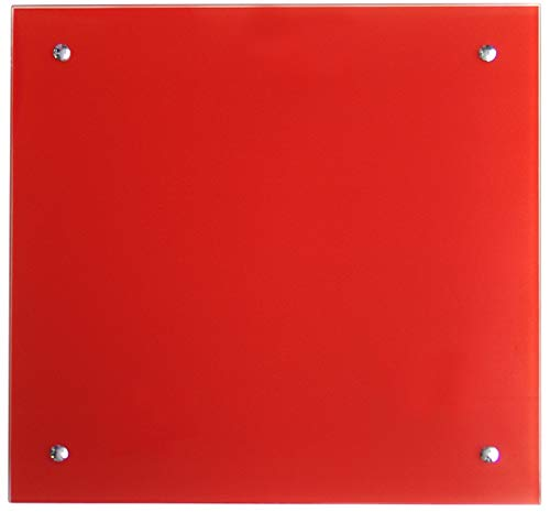 Jollytherm Infrarot Glasheizkörper 50x50cm 350W Heizpaneel, Farbe:rot