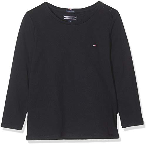 Tommy Hilfiger Mädchen Girls Basic Cn Knit L/S T-Shirt, Blau (Sky Captain 420), 164 (Herstellergröße: 14)