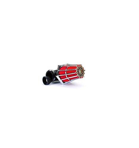 Filtre à air hexagonal Ø28-35mm B1 chrome/rouge