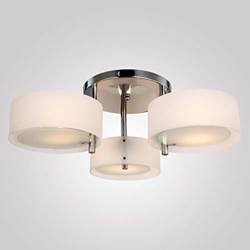 Moderne Acryl Flush Mount kroonluchter plafondlampen voor woonkamer slaapkamer met 3 lampen in chroom afwerking