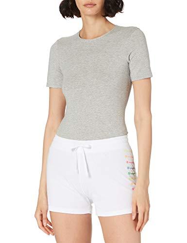 Champion Seasonal Graphic Gallery Shorts Pantalones Cortos de Vestir, Blanco, S para Mujer