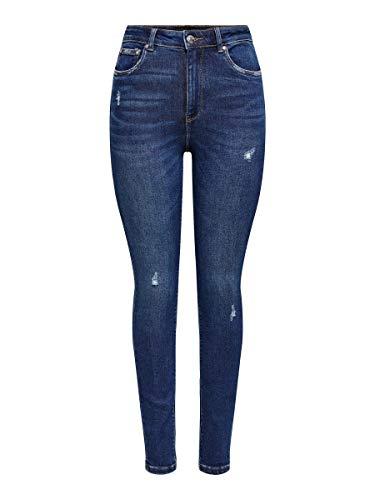 ONLY Female Skinny Fit Jeans ONLMila Life HW Ankle 3130Dark Blue Denim