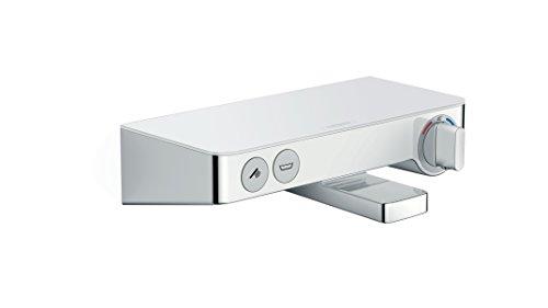 hansgrohe ShowerTablet Select 300 Aufputz Wannenthermostat, für 2 Funktionen, Weiß/Chrom