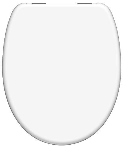 SCHÜTTE 82100 Weiß Duroplast WC-Sitz mit Absenkautomatik,