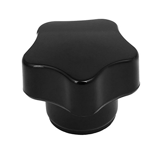 Aexit M6 Female Ball Knobs Thread 31mm Dia Star Head Machinery Clamping Knob Male Ball Knobs Grip Black
