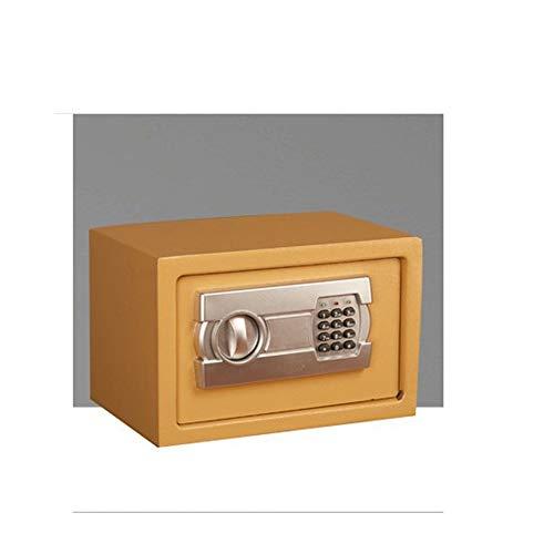 JTRHD Caja de Seguridad fácil de Instalar Inicio Pequeño hogar Alarma Oficina Electrónica Hotel Seguro Caja Fuerte por Dinero en Efectivo (Color : Gold, Size : One Size)