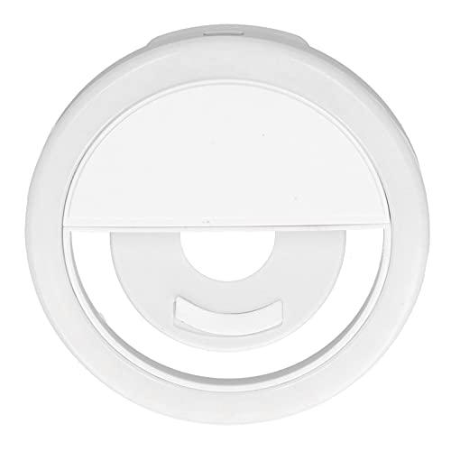 CUTULAMO Luz de Maquillaje, diseño de Silicona antirrayas Anillo de luz LED Luz Uniforme para Acampar Luces para Leer para Selfies para Maquillaje