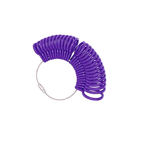 Braceus Ring Sizer Gauge Set Jewelry Mandrel Stick Stretcher Measure Finger Sizing Tools UK Sizes Purple