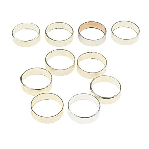 Accesorios de escaladaSeguridad Collares de aleación de Aluminio 10pcs para Caminatas Fabricación de 20 x 13 mm / 22 x 6mm Luz (Size : Silver 22 x 6mm)