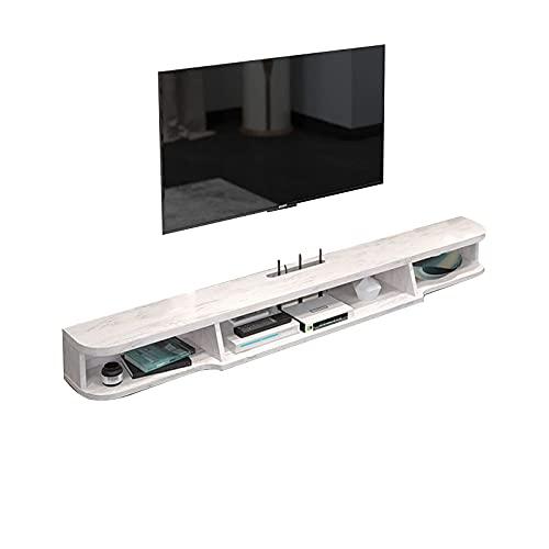 Peakfeng Gabinete de TV Flotante, Caja de televisión, Caja de Juego, Consola de Madera de Entretenimiento de Medios, Adecuado para televisión de 32-42 Pulgadas (Color : B)