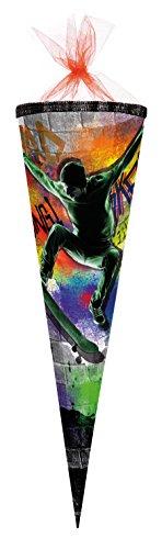 Nestler Schultüte Skateboard Zuckertüte Schulanfang Einschulung Schule Kinder: Größe: 85cm 6eckig