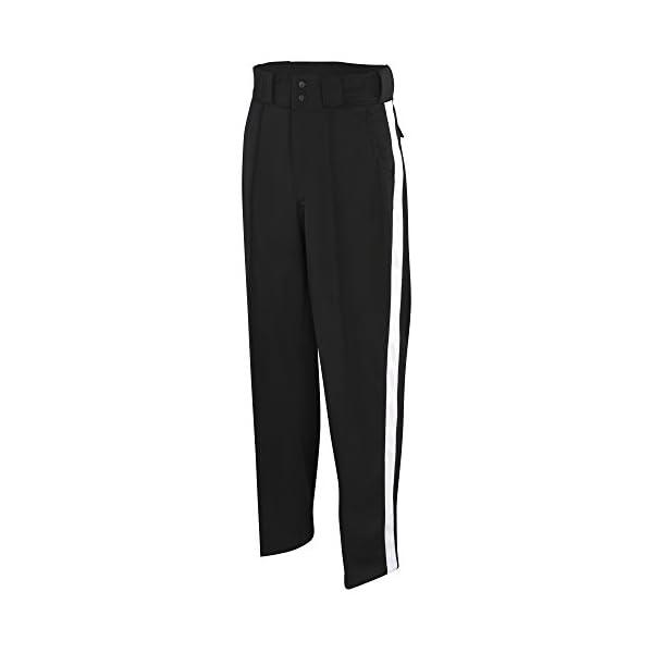 Adams Football Officials Pants – Black/White Stripe, 36″