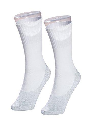 35° Below Ultimate Comfort Socken, aluminisiertes Faden, weiches Nylon, warme Socken, Weiß - Weiß - Small/Medium