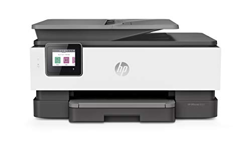 HP OfficeJet 8022 Wireless All-in-One Color Inkjet Printer, Scan, Copy and Fax, 3UC65A (Renewed)