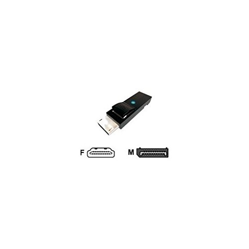 Jou Jye Computer JOUJYE Display Port Adapter 1.1 Display Port Stecker/HDMI Buchse mit Verriegelung mit Status LED DPCP Konform