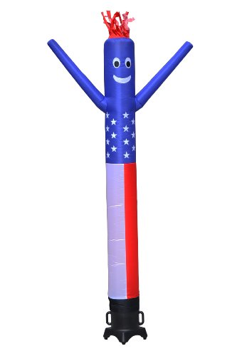 LookOurWay Air Dancers Inflatable Tube Man Complete Set with 1/2 HP Blower, 10-Feet, American Flag