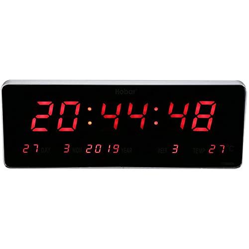 FGART Atenuador De Brillo Ajustable Reloj Despertador Digital Pantalla LED Grande Temperatura Y Humedad Función Dual Recargable por USB