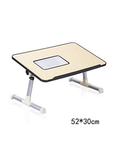DNSJB Laptop Tables Slaapzaal Leren Bureau Eenvoudige Luie Kleine Tafel Huishoudelijke Vouwtafels Met Radiator, Zwart