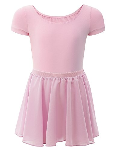 ZNYUNE Girls Snowflake Skirted Ballet Dance Leotard Tutu Dress for Kids 3-12 Years