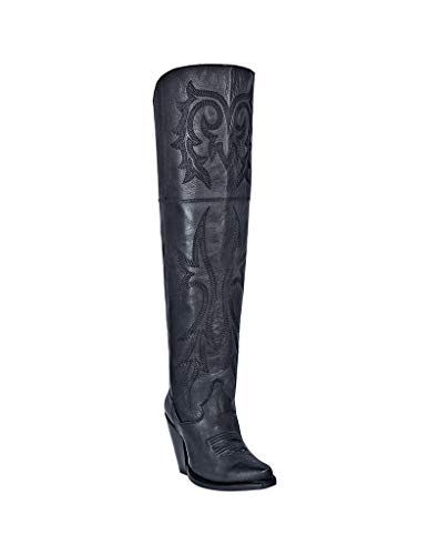 Dan Post Women's Jilted Fashion Western Boot Snip Toe Black 9 M