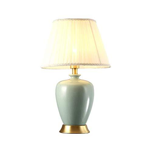 SPNEC Hogar Moderno Art Deco lámpara de Mesa, de Lino Pantalla cBody, adecuados for la Sala de Estar, Dormitorio, vestíbulo, Estudio