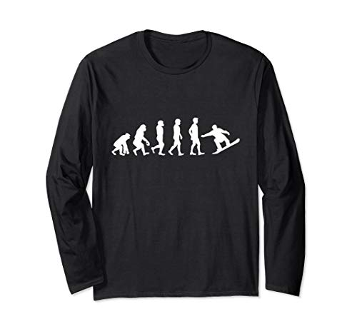 Evolution Snowboard | Snowboarding, Ski, Urlaub | Geschenk Langarmshirt