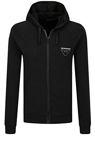Emporio Armani Underwear Herren Homewear - Thin Eagle Sweater Sweatshirt, Schwarz (Nero 00020), Medium (Herstellergröße:M)