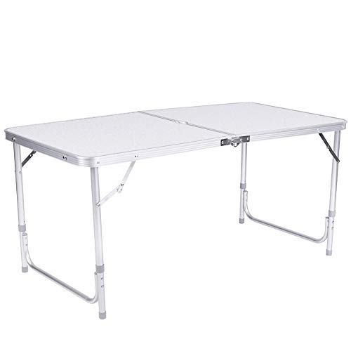 Greensen Camping Table Aluminium Folding Table Height Adjustable Garden Table Foldable Picnic Table Aluminium Table BBQ Table Outdoor Side Table Work Table Balcony Table Travel Table Camping Furniture