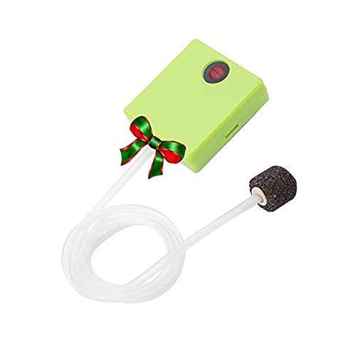 エアーポンプ Acouto 乾電池式エアポンプ ポータブル 静か 安全 無毒 無味 酸素ポンプ 水族館 魚タンク 水槽 フィッシュタンク用 (乾電池式(水槽用))