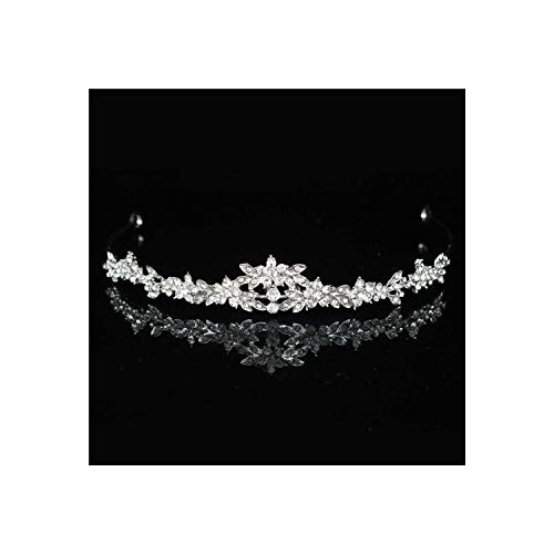 11 Designs Crystal Bridal Tiara Crown For Girl/Women Prom Diadem Hair Ornaments,Style 2 Rose Gold