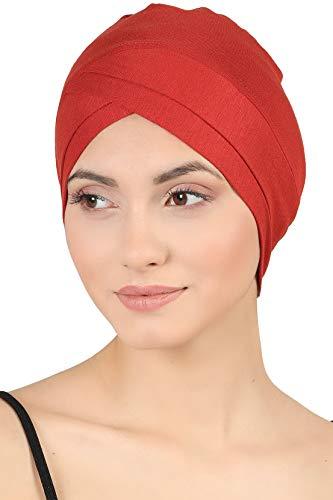 Deresina W Baumwollmütze für Chemo (Zimt)