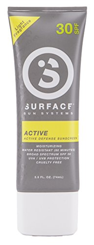Surface Active Sunscreen Lotion | Paraben Free & Hypoallergenic Sun Protection | Active Defense...