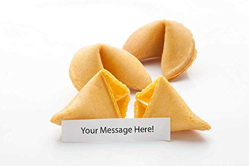 50 Custom Fortune Cookies - Individually Wrapped - Use Your Own Messages - (50 Cookies)