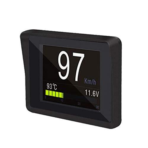 OBD2 HD TFT pour Pare-Brise de Voiture Affichage tête Haute Compteur de Vitesse Alarme Automatique OBD OBDII Jauge de température d'huile et d'eau