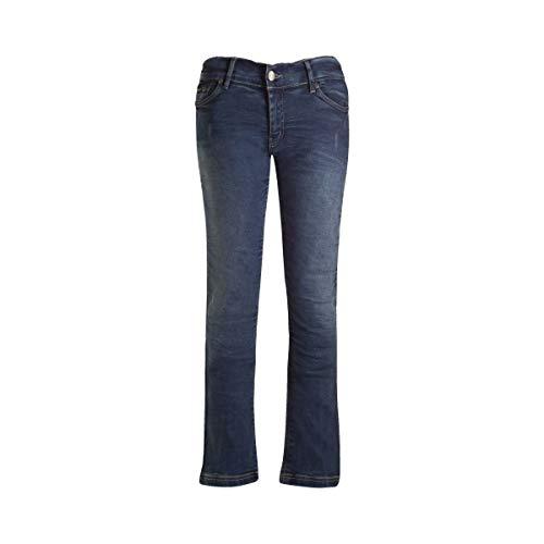 113406013110 - Bull-It SR6 Vintage 17 Straight Fit Blue Ladies Motorcycle Jeans 10 Regular (31/W10)