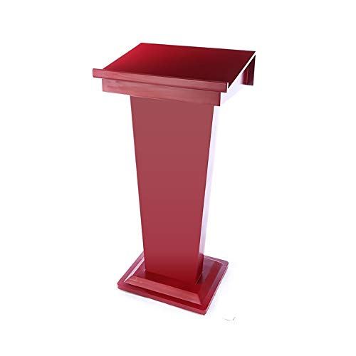 TnSok Stehendes Podium 118cm Melamin MDF-Curved Podium Stand for Schule Kirche Business-Speech (Color : Red, Size : 118x58x45cm)