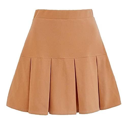 N\P Las mujeres de cintura alta plisada falda dulce lindo niñas danza mini falda negro blanco falda mujer