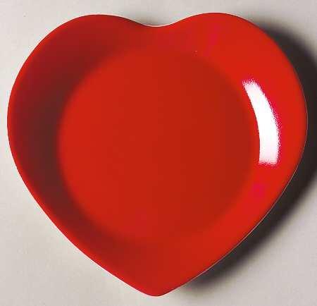 Philippe Deshoulieres Heart Canape Plates (Set of 6)
