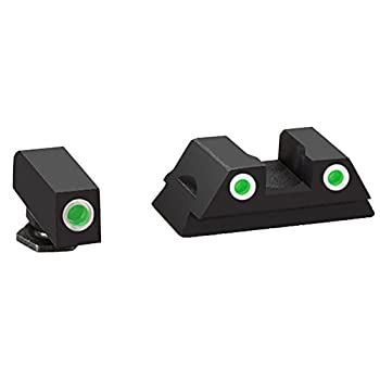AmeriGlo Glock 43 and 43 3 Dot Tritium Set Front/Rear Classic Sight Green/White,1.00 x 3.75 x 5.50 inches