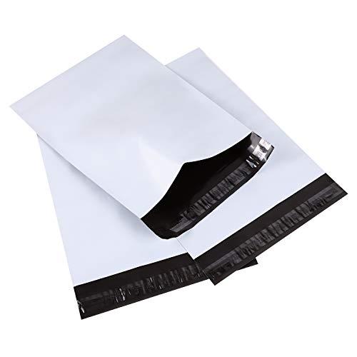 Ohuhu 宅配ビニール袋 100枚 PE袋 白 宅配ポリ袋 郵送袋 宅配袋 梱包 配送用 軽量 防水 厚手 強力テープ付き 可愛い 25x33.5cm