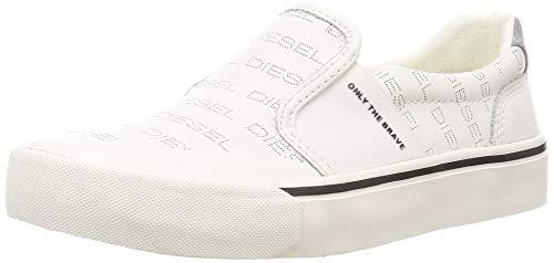Diesel 355 S-FLIP SO W-Shoes Sneaker, Star White, 5.5 M US