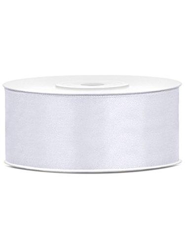 25m Satinband Satin Geschenkband weiss 25mm breit