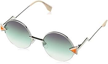 Fendi Purple-Green Gradient Round Ladies Sunglasses (FF 0243/S VGV/QC 51)
