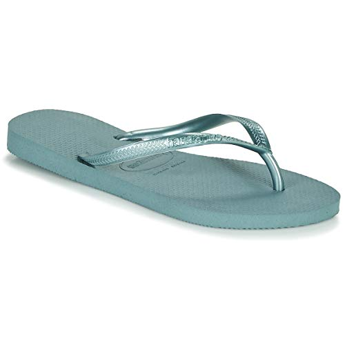 Havaianas Slim Flip Flops Women Blue - 9/9.5 - Flip Flops Shoes